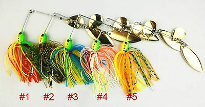 A0235 STOCK 7 PZ ARTIFICIALE SPINNERBAITS LURES LUCCIO BLACK BASS PIKE 16,3 GR