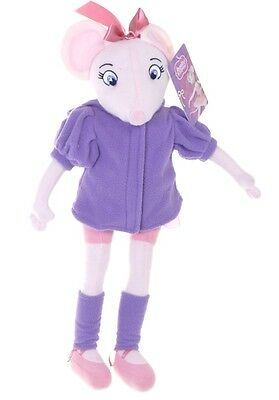 "Official Brand New 17""  Purple Angelina Ballerina Plush Soft Toy Doll Angelina"