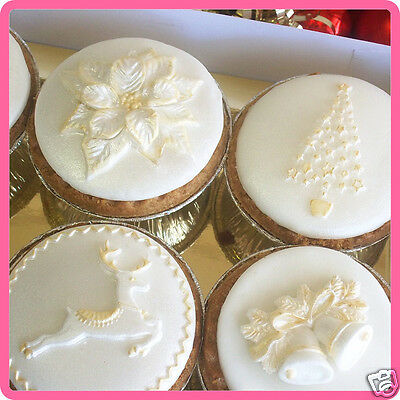 Katy Sue Designs Silicone CHRISTMAS CAKE & CUPCAKE ICING MOULDS Cake Decorating