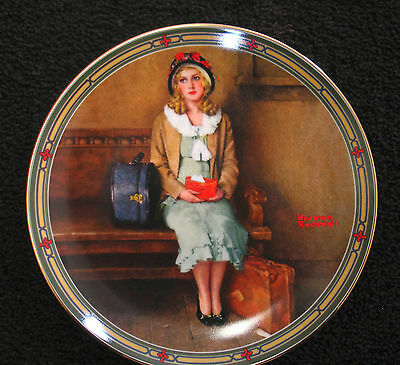 """""""A Young Girls Dream""""-1985  Norman Rockwell Collector Plate"""