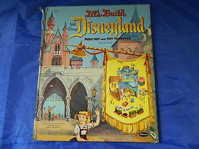 Vintage 1957 Let's Build Disneyland Push Out And Put Together Whitman