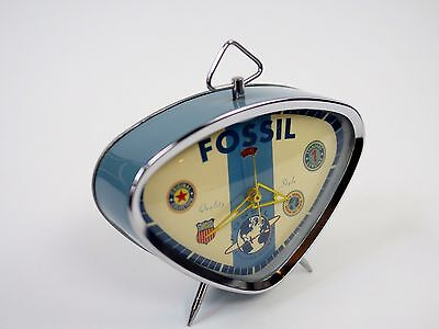 1991 Vintage Fossil Alarm Clock NEW w/Box.  1st Edition of the Retro Collection