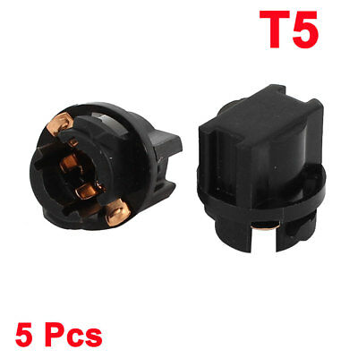 5 Pcs Round Base T5 Dashboard Light Replacement Socket for Auto Car