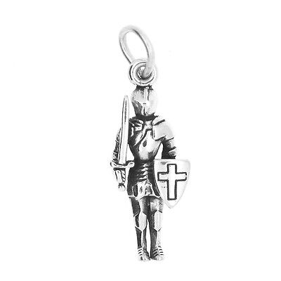 KNIGHT Charm armor Renaissance JOUSTING Pendant Solid STERLING SILVER 925 3D