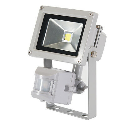 T1022 Silverline LED Floodlight 10W PIR Outdoor Lighting