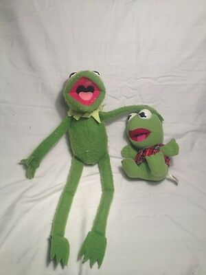 Lot Of 2 Kermit The Frog Plush Toy Doll Vintage Fisher Price 850 1976 22 Inches