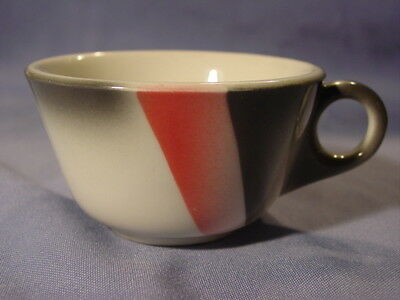 Vintage Jackson Deco Style Airbrushed Gray & Pink Coffee Cup