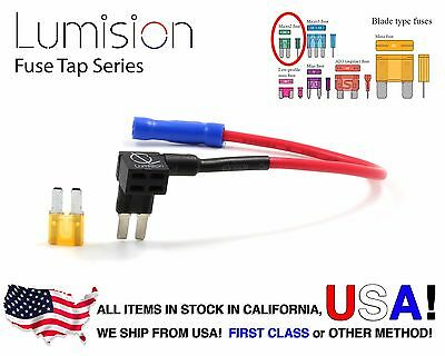 New Add-A-Circuit Blade Style Atr Apt Micro 2 Fusetap Fuse Tap + 5Amp Fuse
