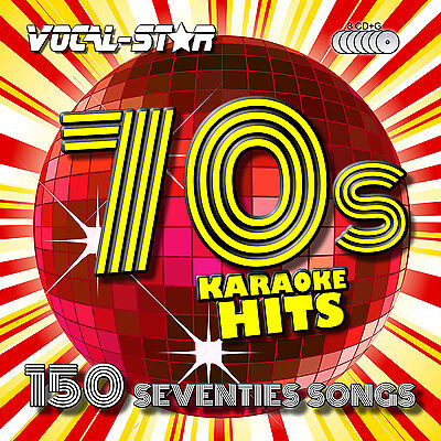 VOCAL-STAR 70s DECADES SONGS KARAOKE DISC PACK CD+G 8 DISCS 150 SONGS