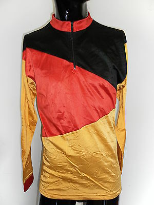 MAGLIA SHIRT CICLISMO BELGIUM VINTAGE INVERNALE JERSEY  BIKE CICLYNG TG 4  A21