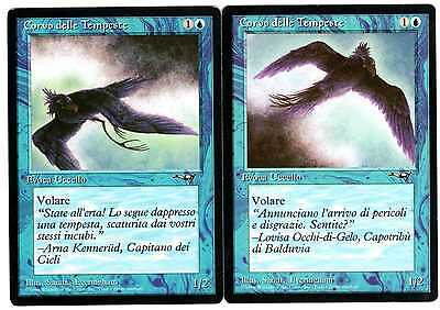 Corvo delle Tempeste - Storm Crow lotto 2x carte Alleanze Magic card lotto EX-NM