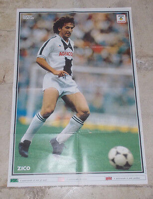 Poster Zico - Udinese -  Guerin Sportivo