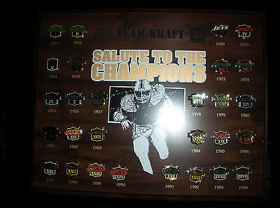 S-084- Kraft Foods Salute Champions Advertising Superbowl Football Pin Collectio