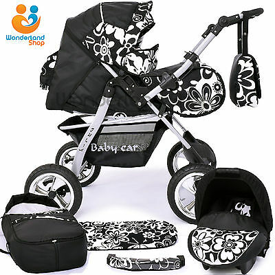Pushchair + 3in1 + Car Seat + baby pram + stroller + Buggy Travel System BARGAIN