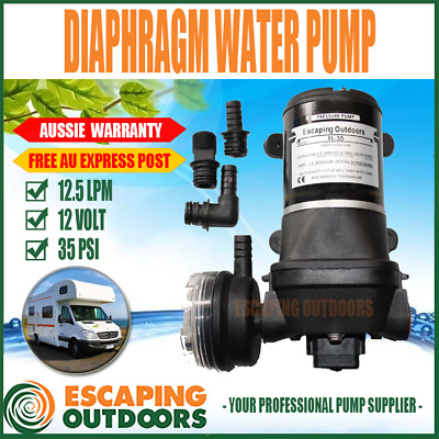 Escaping Outdoors FL35 12 volt Caravan Camping Water Pump 35PSI 12.5 L/pm QUIET