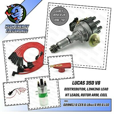 Rover P5 P6 V8 male distributor with lucas Module, coil, link lead & HT Leads