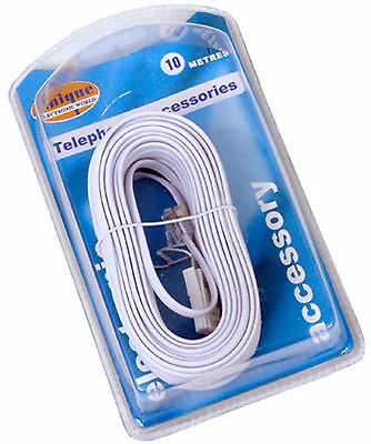 10M Fax Telephone Phone Modem Cable Lead Rj11 To Bt Retail Packing Ce Approved