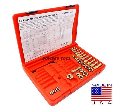 Jawco #1828 Metric Rethreading Set Thread Restore File Taps Dies 28pc USA MADE