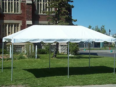 10 x 20 White Replacement TOP ONLY West Coast Frame Tent Tentandtable Awning