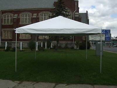 15 x 15 White Replacement TOP ONLY West Coast Frame Tent Tentandtable Awning