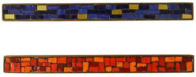 Evelyn Ackerman Era Tile Mosaic Drawer Pulls Danish Mid Century Modern