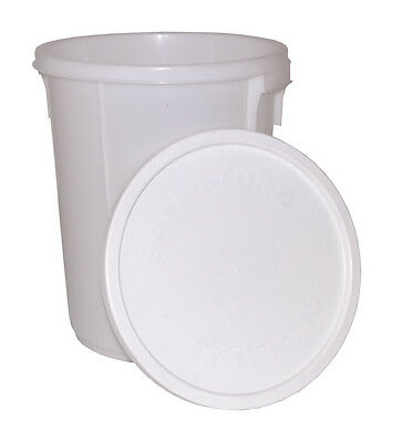 Air Tight Bucket 25 Litre Depth Gauge White Durable Plastic