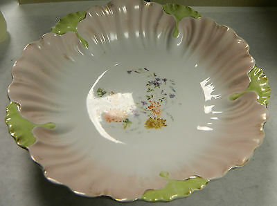 Antique KPM Scalloped Serving Bowl 1837-1844 with Gold Trim Very Nice