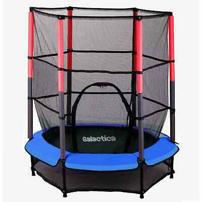 WestWood Children's Mini Trampoline With Safety Net – 4.5FT Kids Rebounder Blue
