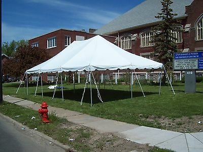 20 x 30 White Replacement TOP ONLY West Coast Frame Tent Tentandtable Awning