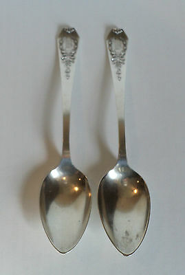 """PAIR ANTIQUE WHITING """"MADAME JUMEL""""  STERLING SILVER TABLESPOONS, c. 1909"""