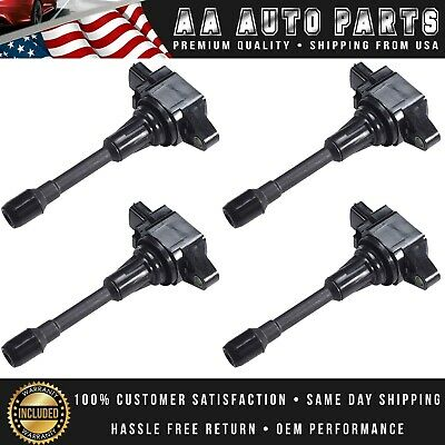 4x Ignition Coils For Nissan Altima Cube Rogue Infiniti FX50 UF549