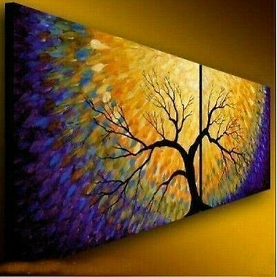 HANDMADE Modern Abstract Huge Oil Painting Canvas Large Art (No frame)