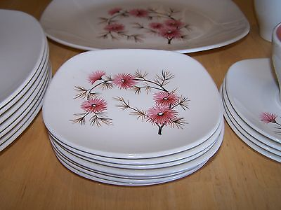 Edwin Knowles CORAL PINE Set of 3 Dessert Salad Plates (7 available)