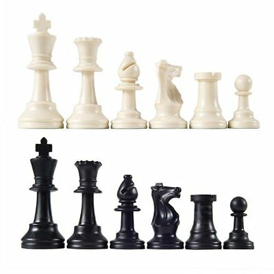 """NEW Heavy Tournament Triple Weighted Chess Pieces with 3 3/4"""" King"""