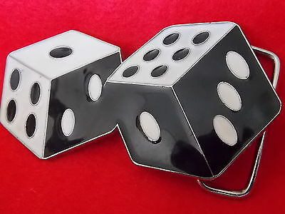 Vintage Antique Collectable Belt Buckle Pair Of DICE