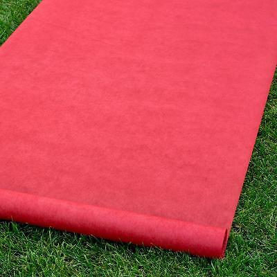 "Red Carpet Blank Durable Rayon Wedding Aisle Runner 36""x100'"