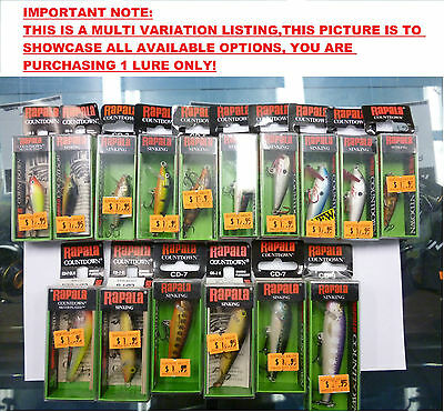 Rapala CD Countdown Clearance.Assorted Colours FREE SHIPPING!