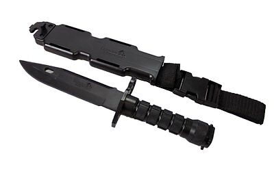 Rubber Training Knife Combat Bayonet with Scabbard/Sheath Airsoft Props