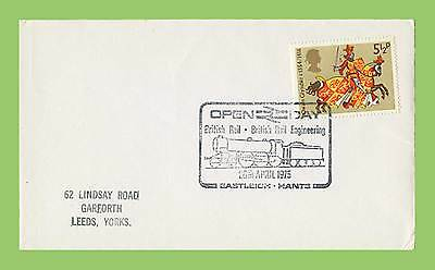 GB 1975 Plain cover with special Commemorative Railway Eastleigh Open Day h/s