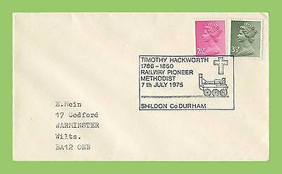 GB 1975 Plain cover with special Commemorative Railway Pioneer Methodist h/s