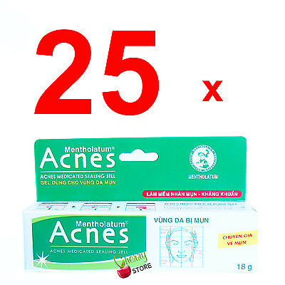 25x Mentholatum Acnes Medicated Sealing Jell WHOLESALE Acne Gel Vitamin E&B6 18g