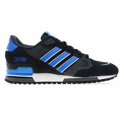 Adidas Originals Mens Zx 750 Uk Size 7-12 Black Trainers  Shoes