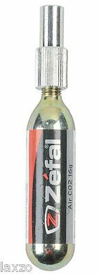 Zefal Ez Adaptor Co2 Pump Silver With 16G Catridge For Road And Mountain Bike