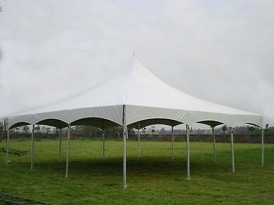 30 x 30 White Replacement TOP ONLY Hexagon High Peak Frame Tent Tentandtable