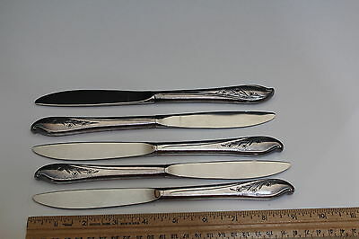 1847 Rogers IS Silverplate Springtime c. 1957  Dinner Knives (5) Pcs. Vintage