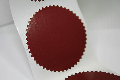 50mm Serrated Certificate Seals Labels Awards Legal Embossing Stickers x 20pcs