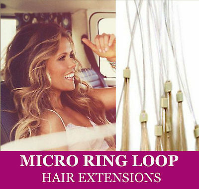 ★Easy Loop Extensions De Cheveux A Froid  Naturels★Micro Ring★46/50/60Cm