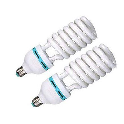 2x Photography Daylight White E26 Lighting Lamp Bulbs 85w 5500k CFL