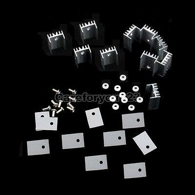 10Pcs TO-220 Silver Heatsink Heat Sink for Voltage Regulator or MOSFET