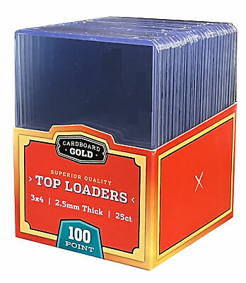 50 Ultra CBG 2.5mm 100pt Pro Top Loaders Toploaders Topload Thick Jersey Cards